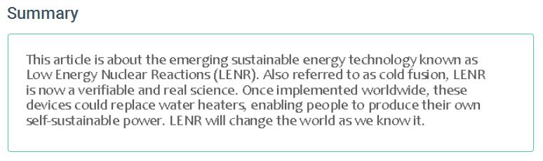 LENR – Low Energy Nuclear Reactions | LENR, CECR, Low Energy Nuclear